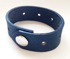 Blue Bayou Men's Leather Cuff by MellissaJill on Etsy, $18.00