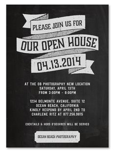 Business Event Invitations ~ Open House by Green Business Print
