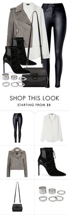 """Sin título #11839"" by vany-alvarado ❤ liked on Polyvore featuring Theory, River Island, Yves Saint Laurent and Versace"
