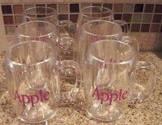 Apple Computer Beer Mugs - RARE - NEVER USED (11/16/2010) $25