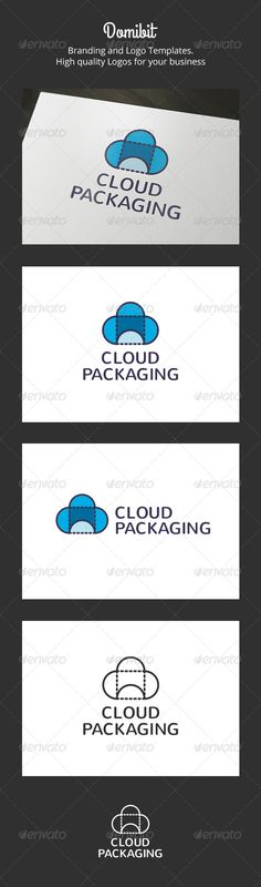 Cloud Packaging Logo  #GraphicRiver         Cloud Packaging: is a logo that can be used in companies frabricantes pckaging boxes and in agencies and design studios, software and applications, among other uses. Its design is very simple and is easy to configure. This ready to print.    Customizable 100%   CMYK   AI – EPS – PSD   Font used Nunito   If you need a unique logo design could contact me here You can also find more logos in domibit and domibit2     Created: 14November13