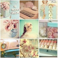 Collage in pastel Vintage Love, Vintage Colors, Vintage Pink, Vintage Items, Pastel Colors, Colours, Soft Colors, Pink Color, Collages