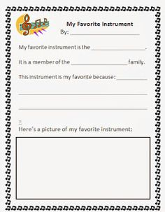 my musical instrument book free printable book to teach kids the