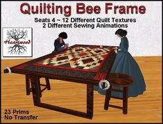 Quilting Frame with Animated Seats & Quilt Texture Changes by Touch (Boxed)