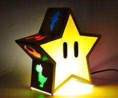 mario bros star light, from etsy. Great for mario bros themed bedroom. Video Game Bedroom, Video Game Rooms, Video Games, Bedroom Themes, Bedroom Decor, Bedroom Ideas, Kids Bedroom, Super Mario Room, Gamer Bedroom