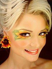 Sunflower makeup for Halloween!!