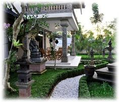 Private villa in Tampaksiring near Ubud. A private family villa that sleeps up to 12. Much less expensive than the other places we've been looking at, and close to Ubud. Neighbors can show you some of the nearby places that a regular tourist would miss. Organic garden and cook on call for a fee.
