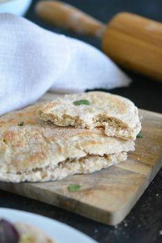 Flat bread / pain plat express à l'épeautre complet – IG bas et alternative vegan – Megalow Food