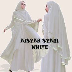 Gamis Syar'i Modern AISYAH WHITE - http://warongmuslim.com/gamis-syari/gamis-syari-modern-aisyah-white/