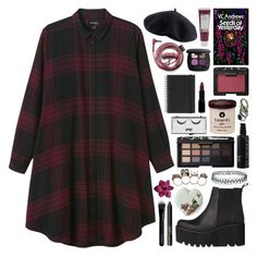"""""""//plum//"""" by bananafrog ❤ liked on Polyvore featuring Muji, Monki, Windsor Smith, H&M, NARS Cosmetics, Givenchy, Korres, Rimmel, Pop Beauty and St. Tropez"""