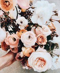 Beautiful bouquet of pink flowers. My Flower, Fresh Flowers, Wild Flowers, Beautiful Flowers, Floral Wedding, Wedding Bouquets, Wedding Flowers, No Rain, Floral Arrangements