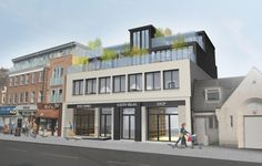 We have just submitted a planning application to Wandsworth to extend this mixed-use premise on Wimbledon Park Road, London SW18. The existing two-storey building, housing a post office and one residential unit above, will be extended to 4 storeys to incorporate a post office, commercial unit and eight flats with balconies (1, 2 & 3 bed), plus parking to the rear. The new design will be built to a very high spec, giving the tired existing building a dramatic face-lift.