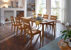 Essgruppe Filippa Esstisch mit 6 Stühlen Holz Wildeiche Massiv 20950. Buy now at https://www.moebel-wohnbar.de/essgruppe-filippa-esstisch-mit-6-stuehlen-holz-wildeiche-massiv-20950.html