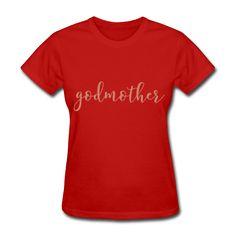 PINK GLITZ PRINT! Godmother, Pregnancy Reveal Women's T-Shirt