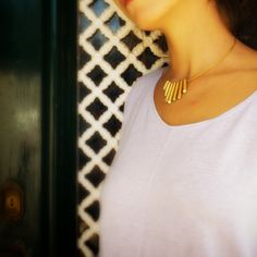 Pieces with geometrical shapes in gold plated metal and crystals. www.puffeddesign.com