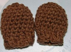 Crochet Geek - Free Instructions and Patterns: Crochet Thumbless Baby Mittens 4-ply yarn