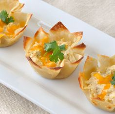 Jalapeno Cheddar Chicken Wonton Cups ~ The Way to His Heart