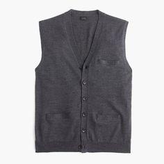 Italian merino wool sweater vest