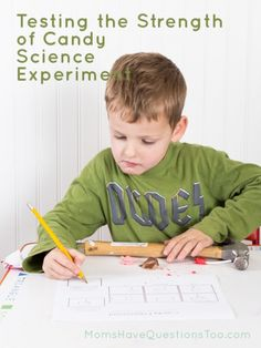 Doing a science experiment with your toddler or preschooler doesn't have to be complicated. Use this free printable to test candy strength! Science Activities For Kids, Mad Science, Science Fair Projects, Kindergarten Activities, Science Ideas, Candy Experiments, Education Quotes For Teachers, Quote Posters, Quotes For Kids