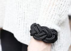 wooden braid bracelet
