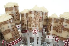 Gingerbread cake push pops...