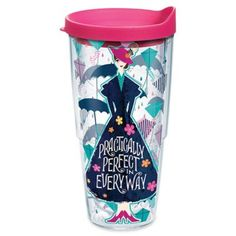 The Tervis Disney Mary Poppins Returns 16 oz. Wrap Tumbler is a magical way to enjoy your favorite beverage. This tumbler features double-wall insulation to keep hot drinks hot and cold drinks cold, and it includes a durable plastic lid. Plastic Tumblers, Tumblers With Lids, Home Wet Bar, Copper Moscow Mule Mugs, Tervis Tumbler, Wine Glass Set, Drinking Glass, Mary Poppins, 3 D