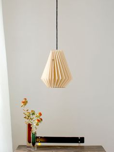 HEKTOR wood lamp wooden lampshade pendant lighting by IUMIDESIGN