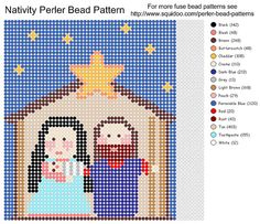 Perler bead Nativity PATTERN