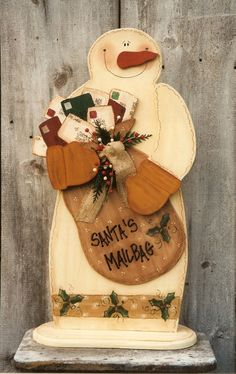 *SNOWMAN ~ Decorative Woodcraft & Tole Painting Pattern Packets by Heidi Markish Designs
