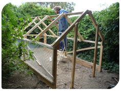This multi purpose DIY project can serve as a great greenhouse or chicken coop. Easy to build for a very frugal price!