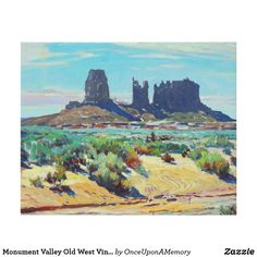 Monument Valley Old West Vintage Faux Canvas Print
