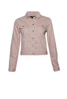 A wardrobe staple is updated in a colourful hue. The Drew Denim Jacket has a slightly cropped fit, patch pockets and panel detailing at front. My Outfit, Wardrobe Staples, Military Jacket, Vest, Leather Jacket, Ballet, Fashion Outfits, Denim, Clothing