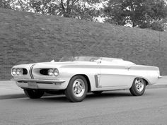"bigcheese327: ""Pontiac Tempest Monte Carlo, circa 1963. With a 326 V8 and a rope-drive rear transaxle. This could easily have morphed into a Firebird and beat the Mustang to market by a year. But then..."