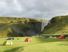 Skógafoss is a waterfall situated in the south of Iceland at the cliffs of the former coastline