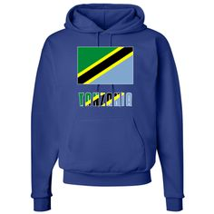 """Lovely image of the Flag of the United Republic of Tanzania, or Tanzanian Flag, with the name, or word, """"Tanzania"""" underneath in the colours (colors) of the flag. Share your love and pride in your culture and heritage while honoring your ancestry. <br /><br /> Terrific gift for your favorite Tanzanian on a birthday, national holiday or any special day. <br /><br /> $39.99 ink.flagnation.com"""