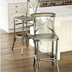 Ballard Designs   Constance Metal Counter Stool   Hand Crafted Of Iron.  Antique Nickel