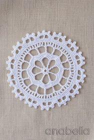 Crochet lace motif nr 4 by Anabelia