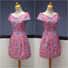 Dress Blouse Batik, Batik Dress, Gnader Saif, Mode Batik, Batik Kebaya, Mother Daughter Fashion, Batik Fashion, Thai Dress, Gambrel