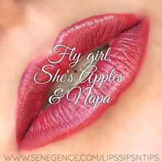 Lipsense layering combo of fly girl, she's apples and Napa! This is sooo gorgeous! I couldn't believe it!