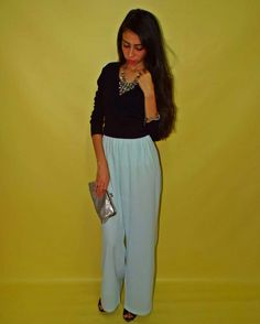 High Waist Flowy Pants, Plain Top styled with Nice Accessories and Heels.  Sophisticated, Trendy and Feminine  #ElZayanLookBook #stylist #fashion #fashionblogger #outfitpost #fashiondaily #fashionista #fashiongram #fashionstylist #fashiondiaries #style #styleblogger #styleinspiration #stylegram #styleguide #picoftheday #photooftheday