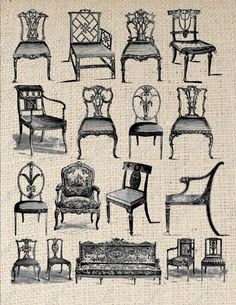 Vintage Chairs Can Be Used for Iron on Transfers