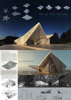 The Sea Star Pavilion   Alexey Umarov Cultural Architecture, Architecture Design, Concept Models Architecture, Pavilion Architecture, Architecture Portfolio, Futuristic Architecture, Landscape Architecture, Sustainable Architecture, Residential Architecture