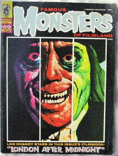 LOVE. THIS. COVER.  Famous Monsters of Filmland #69 Magazine from September 1970 F/VF Warren Vintage