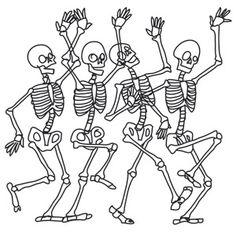 Four Skeletons Do A Joyful Dance
