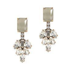 J.Crew - Crystal leaves earrings