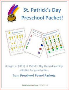 {FREE} Printable St. Patrick's Day Preschool Packet | Preschool Powol Packets