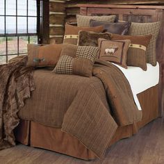 Crestwood Comforter Sets HiEnd Accents ~ Rustic Bedding