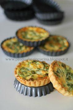 Pasqualina in cucina: Mini quiche ricotta e spinaci