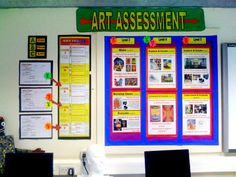 Art Assessment posters in the classroom