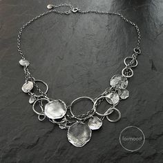 Handmade necklace is made of oxidized sterling silver 925, Dimensions: Necklaces length : 16.5+ 1.5 inches (42cm + 4cm extra) Above length is showed in the pictures. You can choose other one (select in OPTIONS) Silver elements diameter : 0.28 - 0.87 ( 7-22mm) In our offer you can find earrings to the set Ready to ship We pack all the items in corporate boxes (visible in some offers). We ship all the consignments as priority registered consignments in well protected cartons. Thank you for…